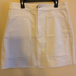 H&M Cream Corduroy Mini skirt.